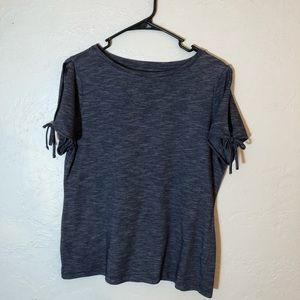 Talbot's Cold Shoulder Top with Tie Accents